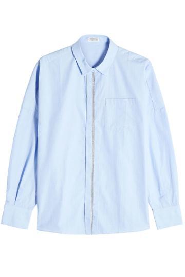 Brunello Cucinelli Brunello Cucinelli Cotton Shirt With Embellishment