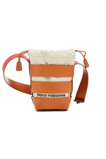 Paco Rabanne Paco Rabanne Cage Hobo Mini Shoulder Bag With Leather