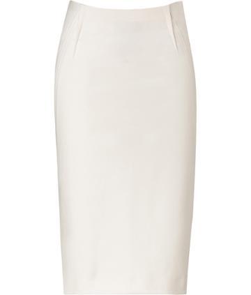 Donna Karan Gypsum White Pencil Skirt