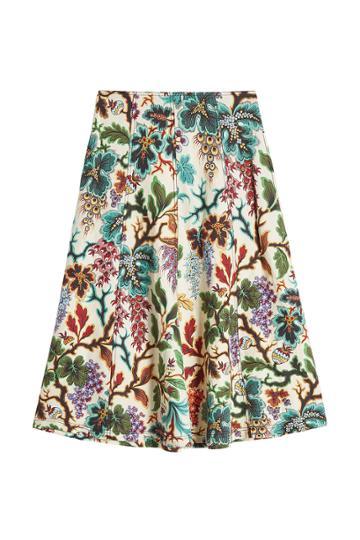 Philosophy Di Lorenzo Serafini Philosophy Di Lorenzo Serafini Printed Linen And Silk Skirt
