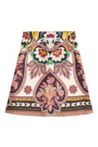 Etro Etro Printed Wool And Silk Skirt