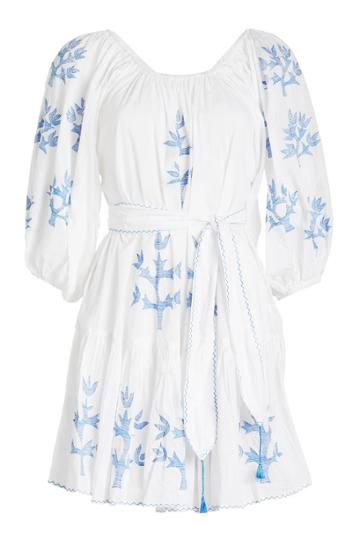 Juliet Dunn Juliet Dunn Embroidered Mini Dress