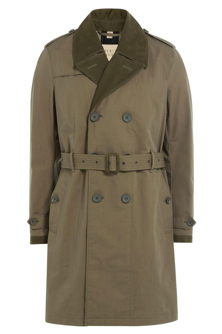 Burberry Brit Burberry Brit Cotton Blend Trench Coat - Grey