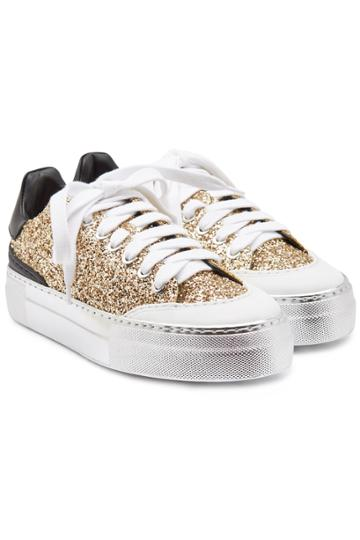 N°21 N°21 Gymnic Glitter Sneakers With Leather