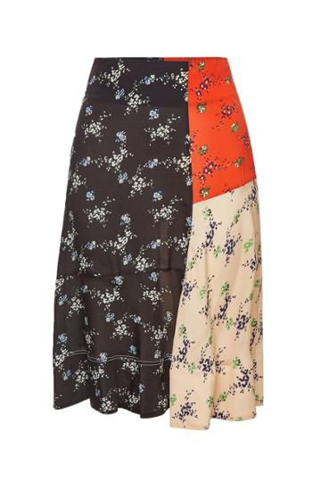 By Malene Birger By Malene Birger Tahola Printed Skirt With Silk