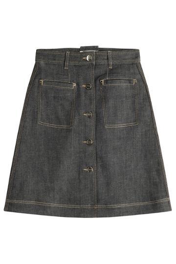 Carven Carven Denim Skirt - Blue