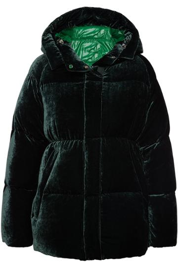 Moncler Moncler Butor Velvet Down Jacket With Silk