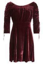 The Kooples The Kooples Velvet Dress With Silk