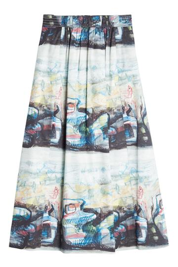 Burberry London Burberry London Kindle Printed Midi Skirt