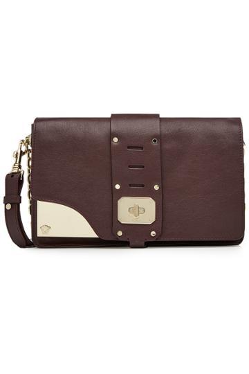 Versace Versace Stardust Leather Shoulder Bag