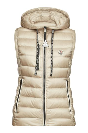 Moncler Moncler Sucrette Quilted Down Vest With Hood