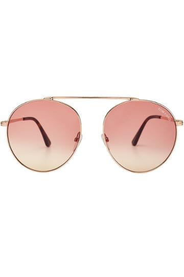 Tom Ford Tom Ford Round Aviator Sunglasses