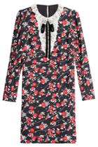 The Kooples The Kooples Printed Dress With Lace Collar - Multicolored