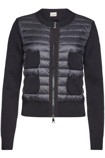 Moncler Moncler Down-filled Quilted Front Cardigan