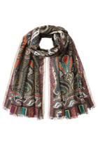 Etro Etro Printed Wool-silk Scarf - Multicolor