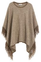 Closed Closed Knit Cape With Alpaca - Brown