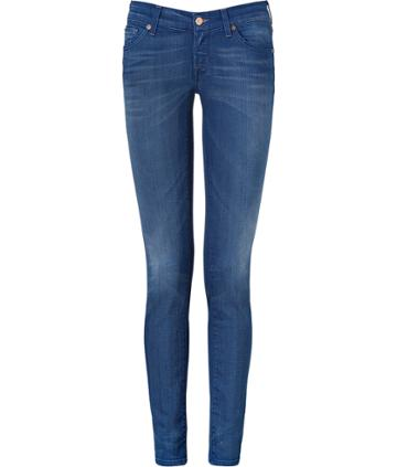 Seven For All Mankind The Olivya Capecoad Light Ocean Low Rise Skinny Jeans