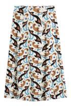 Etro Etro Printed Wool Skirt