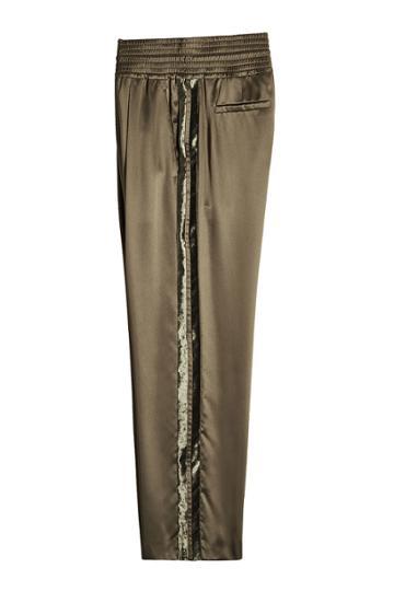 Brunello Cucinelli Brunello Cucinelli Satin Pants With Velvet
