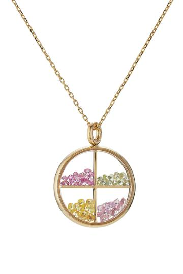 Aurélie Bidermann Fine Jewelry Aurélie Bidermann Fine Jewelry Baby Chivor 18kt Gold Necklace With Sapphires - Multicolored