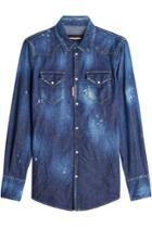 Dsquared2 Dsquared2 Denim Shirt With Distressed Details