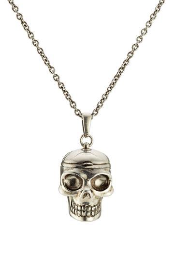 Alexander Mcqueen Alexander Mcqueen Skull Necklace - Silver