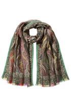 Etro Etro Printed Wool Scarf With Silk