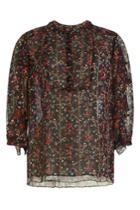 Anna Sui Anna Sui Printed Silk Blouse - Black