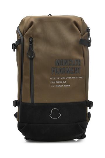 Moncler Genius Moncler Genius 7 Moncler Fragment Hiroshi Fujiwara Fabric Backpack With Lea
