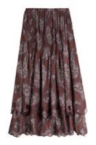 See By Chloé See By Chloé Printed Chiffon Midi Skirt