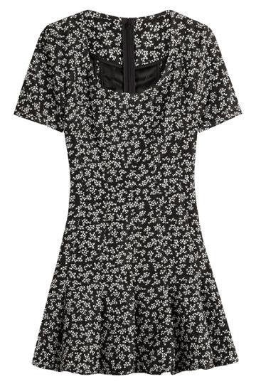 Carven Carven Printed Dress - Black
