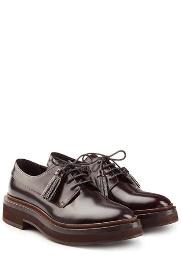 Brunello Cucinelli Brunello Cucinelli Leather Lace-ups - Brown