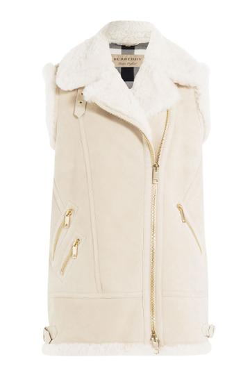 Burberry Brit Burberry Brit Shearling Vest - White