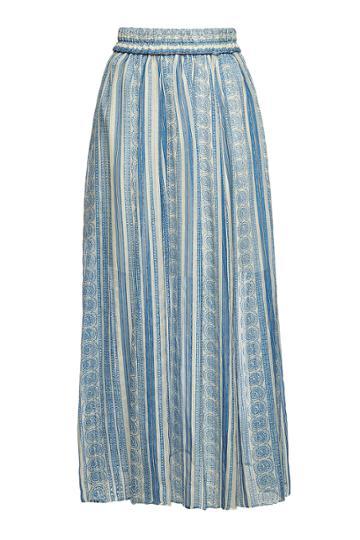 Philosophy Di Lorenzo Serafini Philosophy Di Lorenzo Serafini Printed Silk Maxi Skirt With Metallic Thread