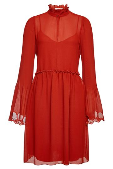 See By Chloé See By Chloé High Neck Dress With Bell Sleeves