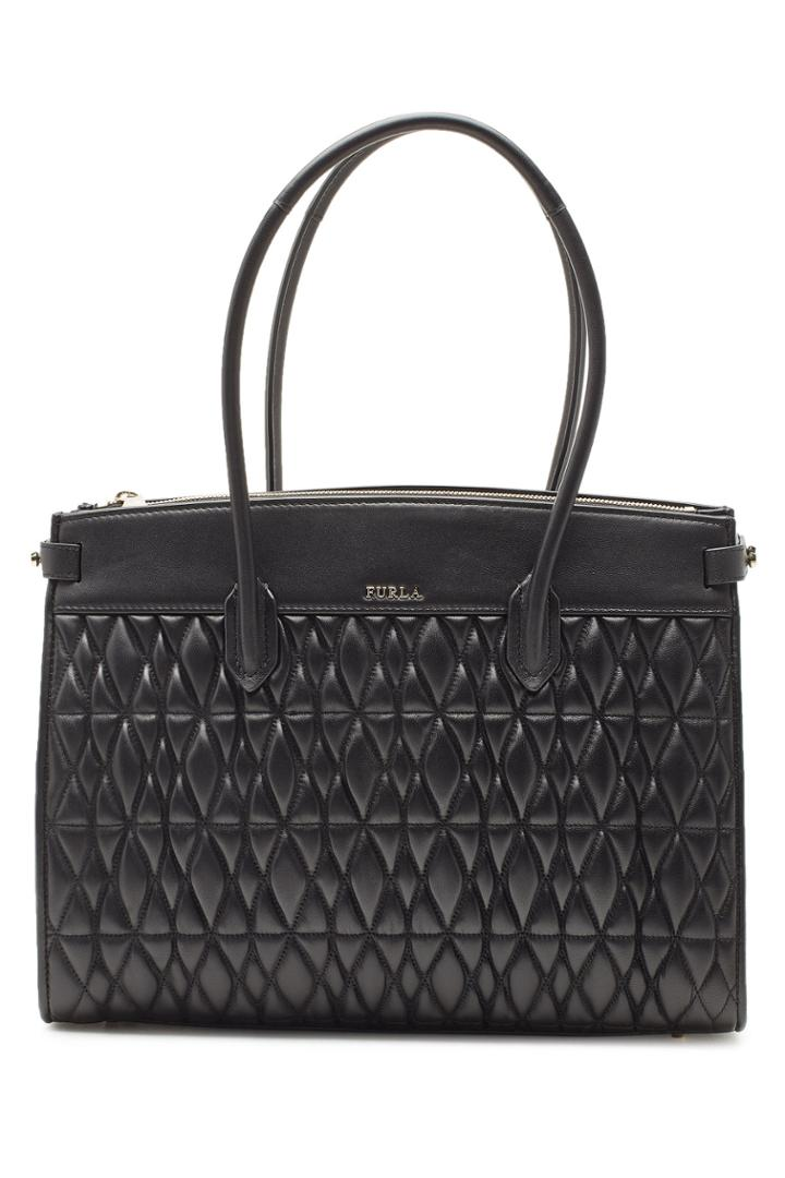 Furla Furla Pin Cometa M Quilted Leather Shopper