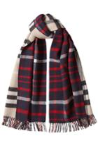 Burberry Burberry Check Wool Scarf With Cashmere
