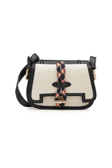 Carven Carven Mazarine Saddle Shoulder Bag With Leather