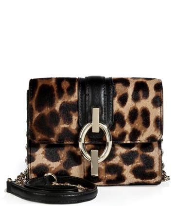 Diane Von Furstenberg Haircalf Sutra Micro Mini Leopard Bag In Leopard/black