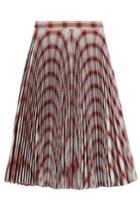 Calvin Klein 205w39nyc Calvin Klein 205w39nyc Plaid Print Pleated Skirt