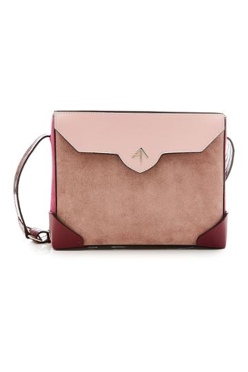 Manu Atelier Manu Atelier Bold Shoulder Bag In Leather And Suede