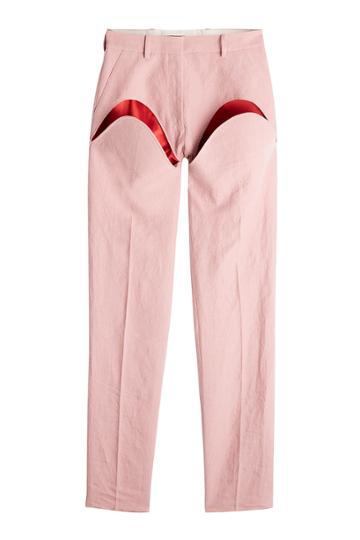 Y/project Y/project Linen Pants With Cut-out Detail