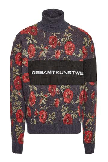 Oamc Oamc Wallpaper Turtleneck Pullover With Cotton