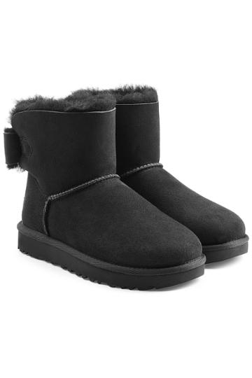 Ugg Ugg Mini Bailey Bow Shearling Lined Suede Boots
