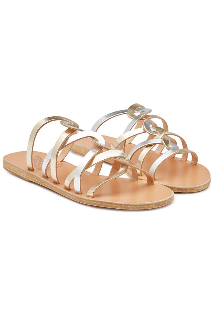 Ancient Greek Sandals Ancient Greek Sandals Donousa Metallic Leather Sandals