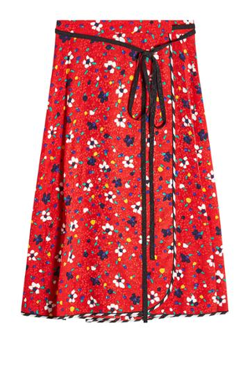 Marc Jacobs Marc Jacobs Printed Silk Wrap Skirt