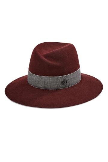 Maison Michel Maison Michel Rabbit Felt Hat - Red