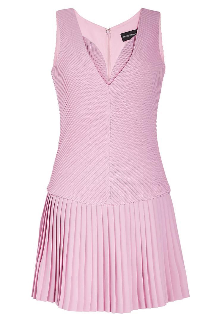 Brandon Maxwell Brandon Maxwell Gloria Crepe Pleated Dress