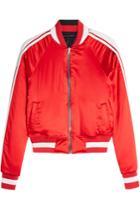 Amiri Amiri Reversible Silk Bomber Jacket With Leather