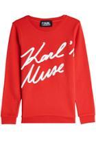 Karl Lagerfeld Karl Lagerfeld Karl's Muse Cotton Sweatshirt